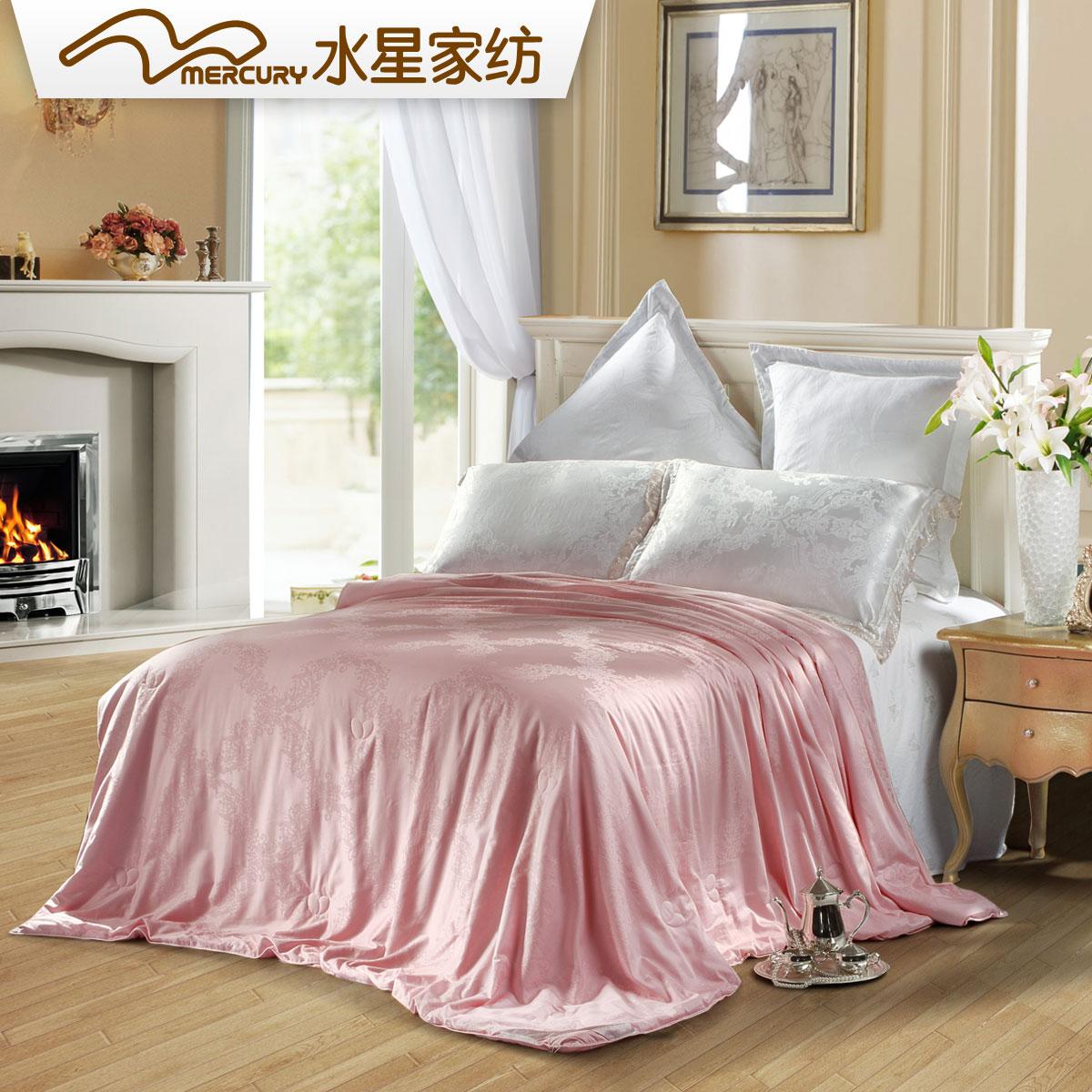 全棉家纺蚕丝提花桑蚕丝被水星提花正品床上用品纯面料冬被被芯