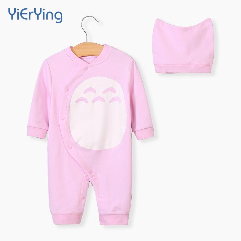 婴儿连体衣服春秋装纯棉男女0-1岁宝宝衣服哈衣爬服龙猫连体衣