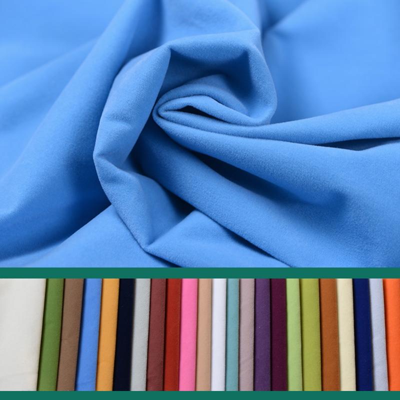 高档背景抱枕绒布靠垫布料布料套植绒纯色软包手工布沙发防水沙发