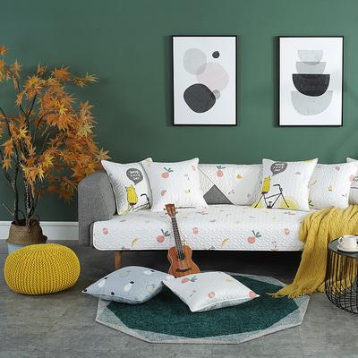 卡通可爱防滑沙发垫冬全棉沙发靠背巾现代简约布艺沙发套四季通用