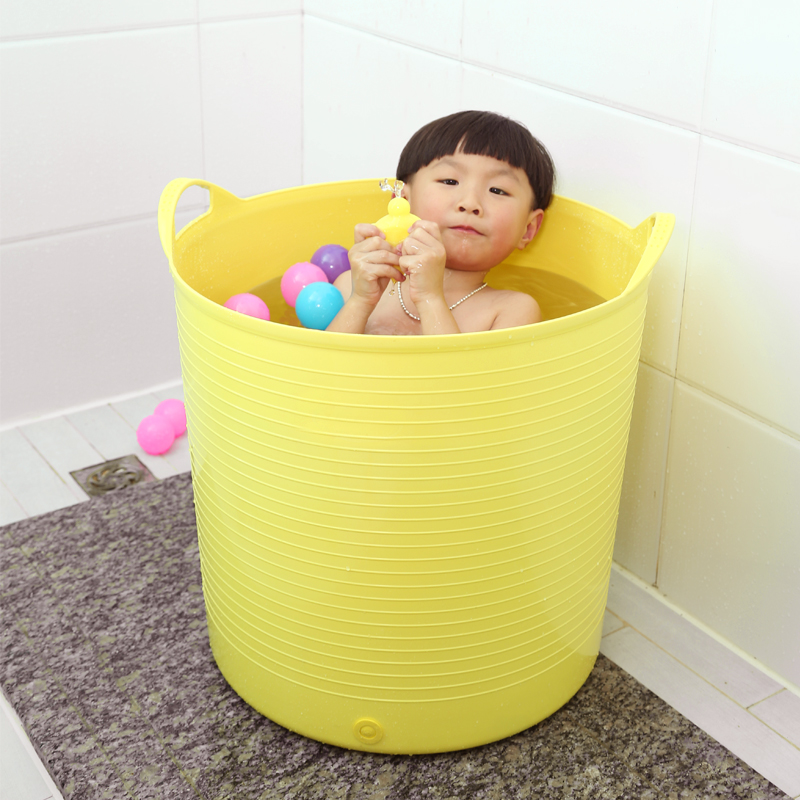 USD 30.75] Oversized thickened swimming children baby bath tub baby ...