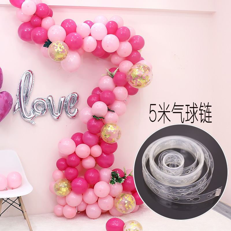 Soft arch Irregular balloon chain Making tool Balloon Connecting chain Snap Connecting String Birthday party decoration