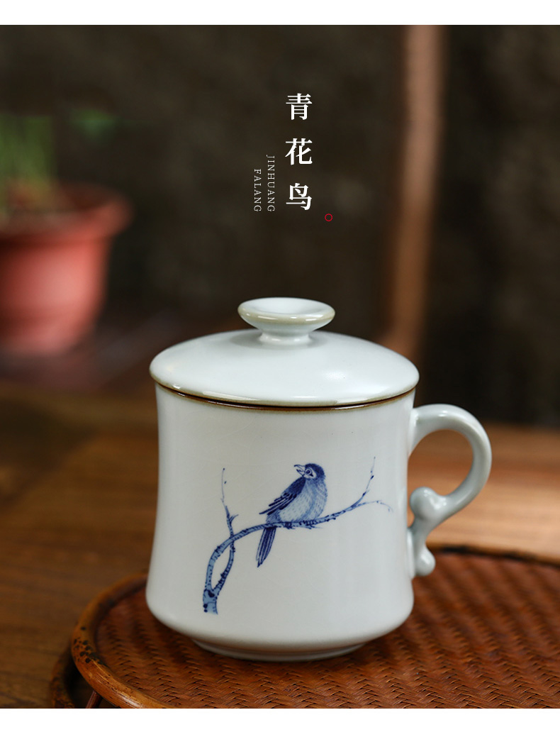 Start your up office personal ceramic tea cup keller cup with cover filter tea separate office cup