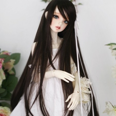 taobao agent 1/31/4BJD/SD doll wig antique/modern universal oblique bangs long straight hair smooth and easy to care-GA05