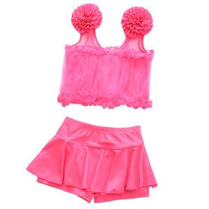 3-12岁女童泳衣分体裙式泳装