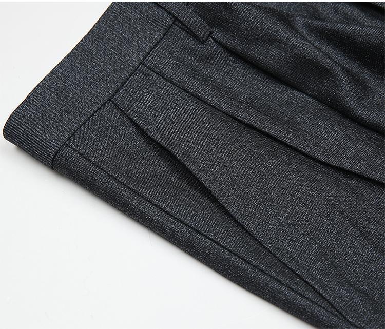 Chính hãng Apple trung niên của nam giới đôi xếp li quần mùa hè phần mỏng eo cao sâu tập tin lỏng thường nóng phù hợp với quần