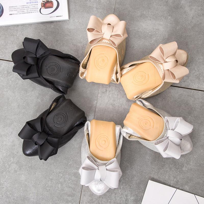 小蛋卷女老北京新款平跟浅口夏尖头软底布鞋孕妇蝴蝶结v蛋卷时尚鞋