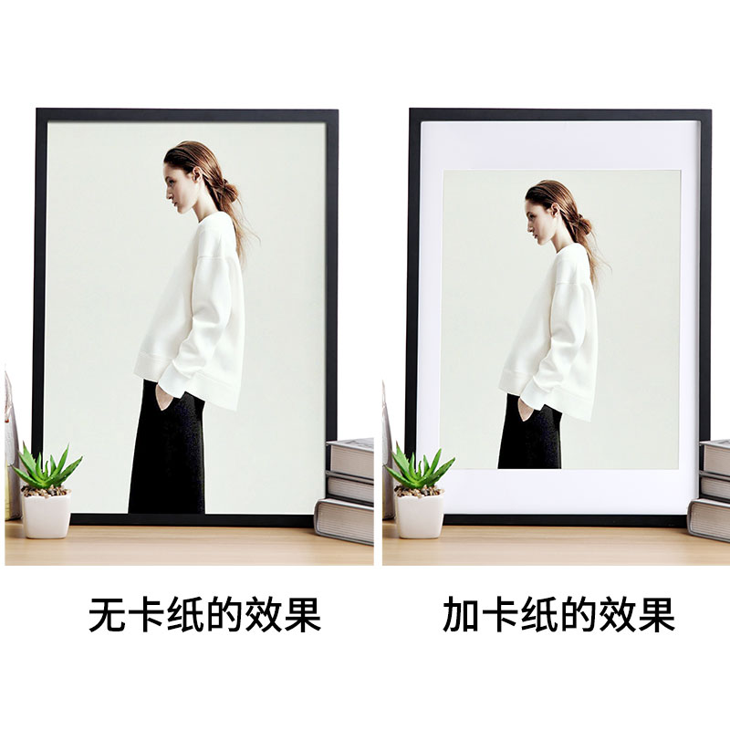 Photo Frame Photo Wall With Lined Cardboard Installed 7 Inch 10 Inch