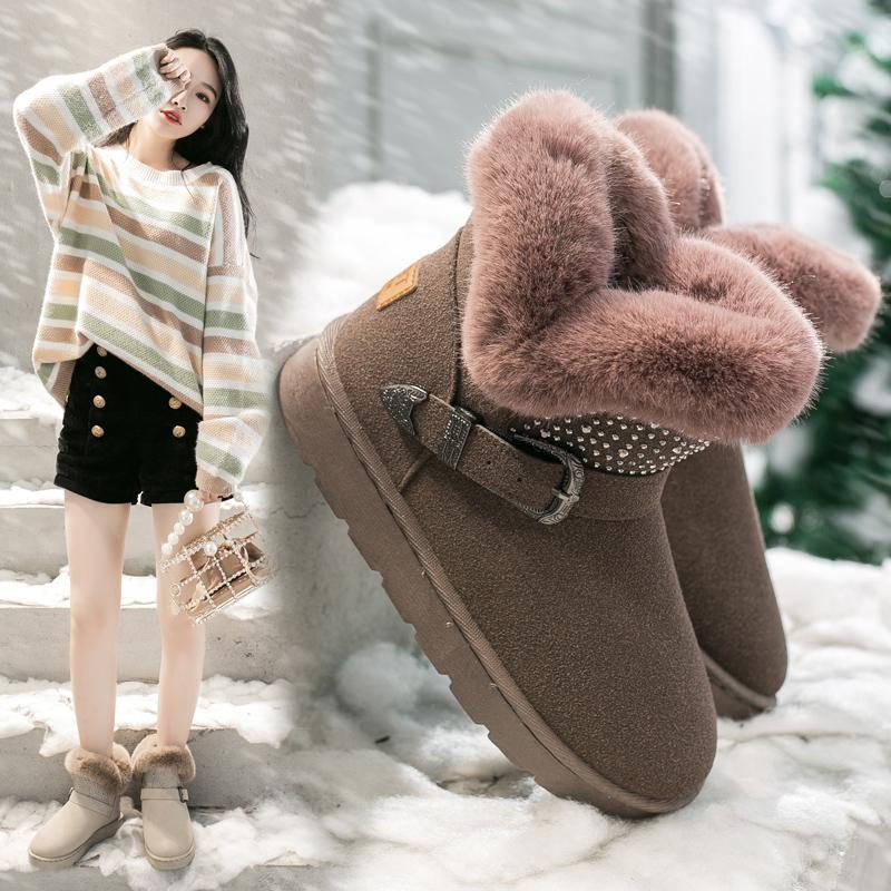 女士冬季新款短筒雪地靴