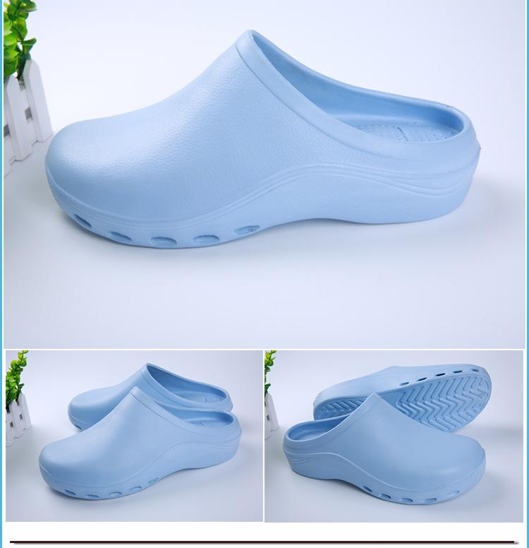 Dép phẫu thuật mới nữ y tá giày dốc cao gót giày tăng trong EVA Giày bảo vệ con chip y tế inductor với