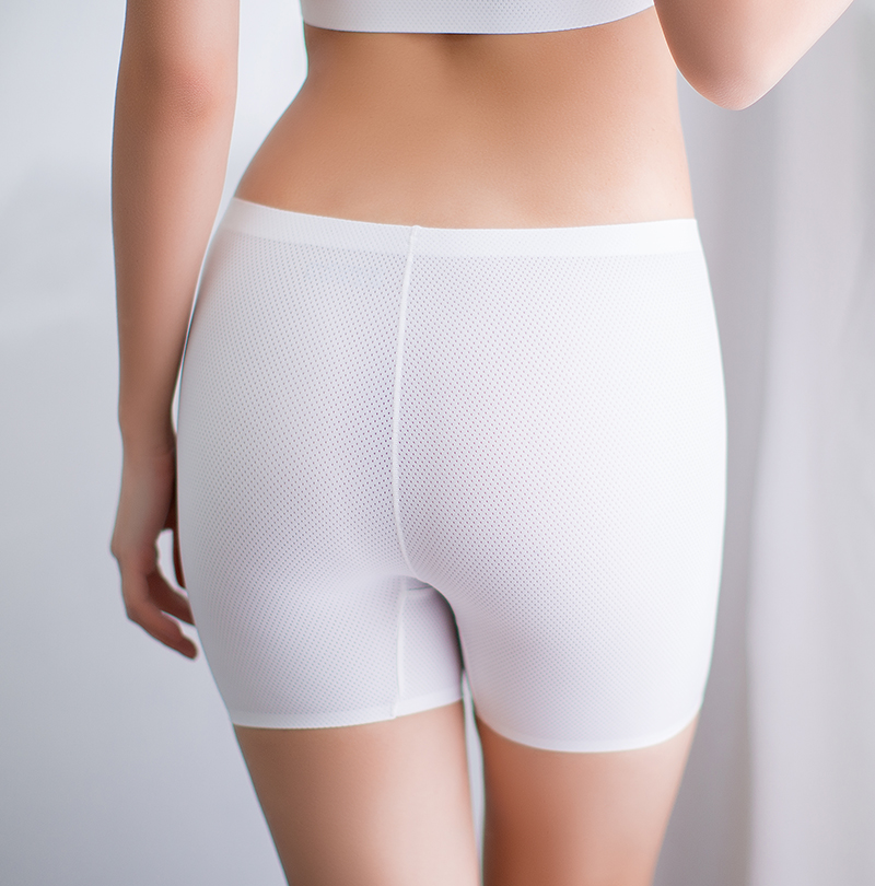 b331066ff6ab95 Fans pupil breathable hole sports underwear female ice silk seamless safety  pants anti-light shorts Five Points white leggings