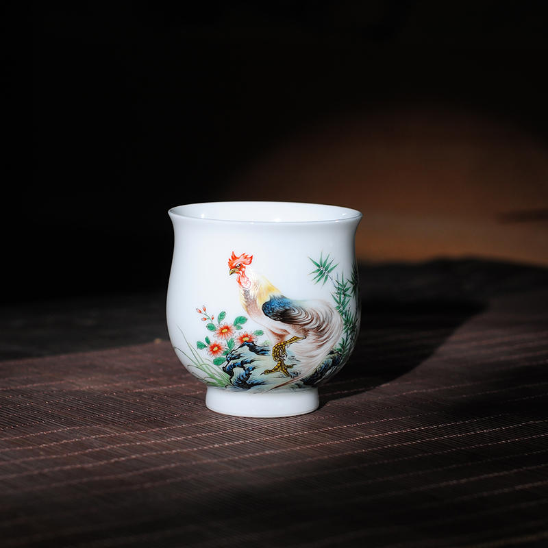 【 9.11 】 jingdezhen pure manual hand - made pastel feathers of the business