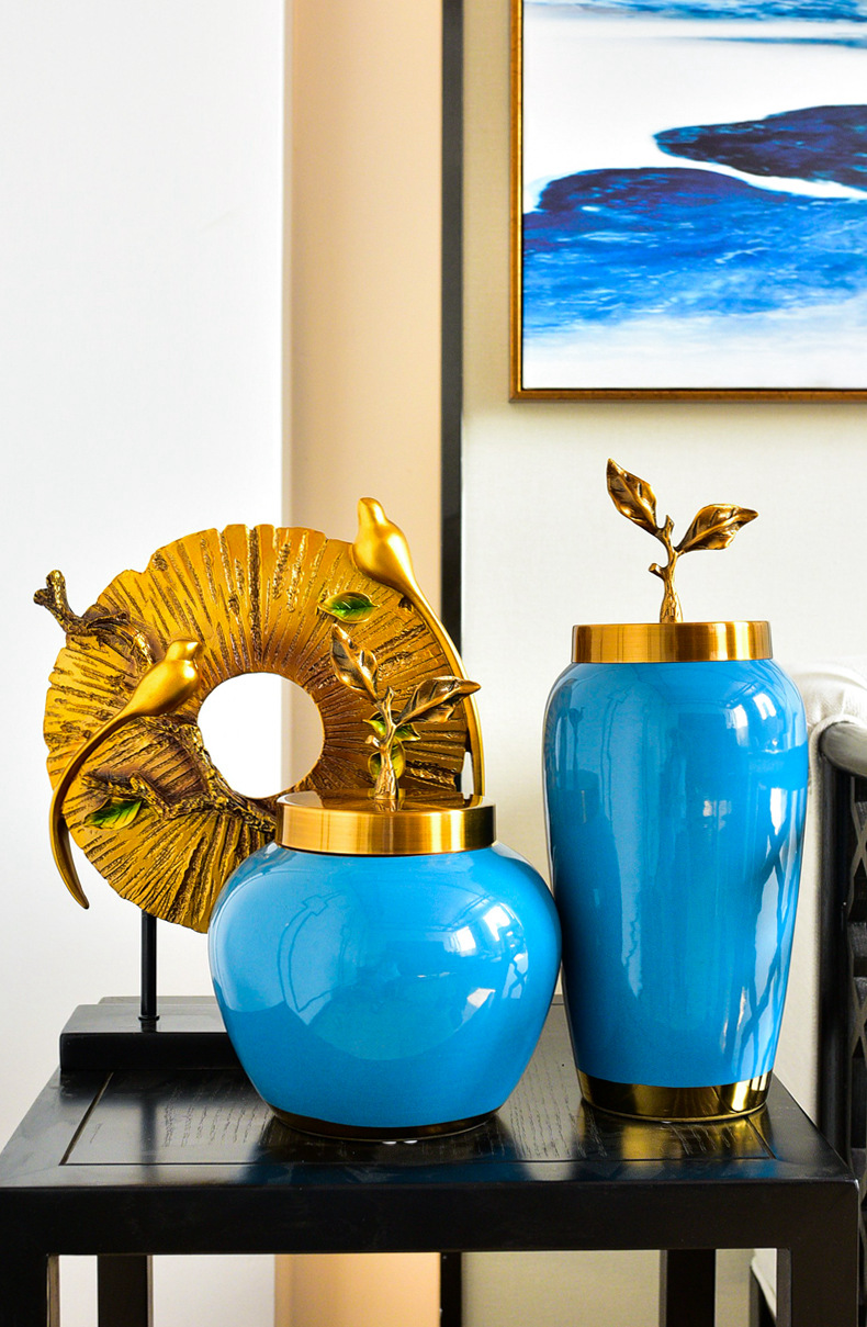 The New Chinese American light key-2 luxury furnishing articles household act the role ofing is tasted TV ark, porch ark of jingdezhen ceramic decoration arts and crafts