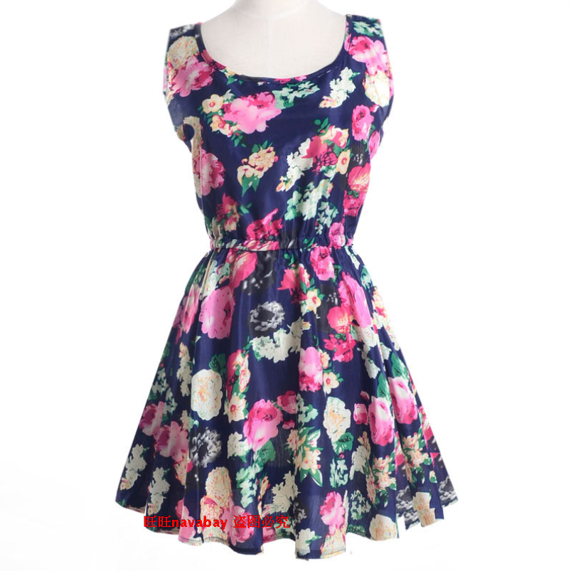 Шифоновое Платье Цветами
