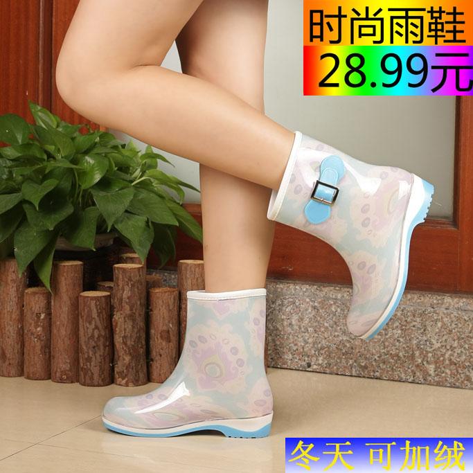 Лето скольжение сапоги женщина вода обувной клей обувной весна женщина сапоги женщина для взрослых добавка кашемир трубка сапоги вода ботинки обувной
