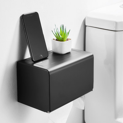 Nordic ins tissue box free punch wall-mounted toilet toilet multi-function bathroom pumping paper tissue storage box