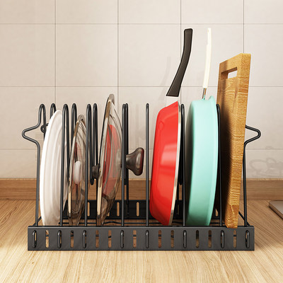 Kitchen pot lid racks sitting cutting board racks for pot lids chopping boards chopping board racks household pan storage racks