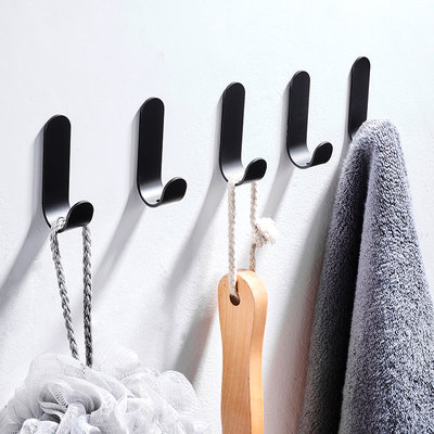 Punch-free clothes hook strong viscose door behind the coat hanger wall load-bearing storage glue hook wall hanging