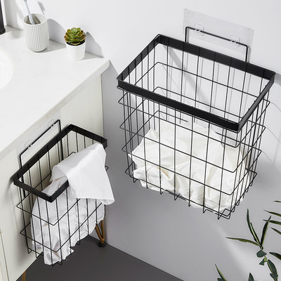 Words-free bathroom dirt basket storage basket home clothes clothes storage basket large capacity wall hanging storage bucket