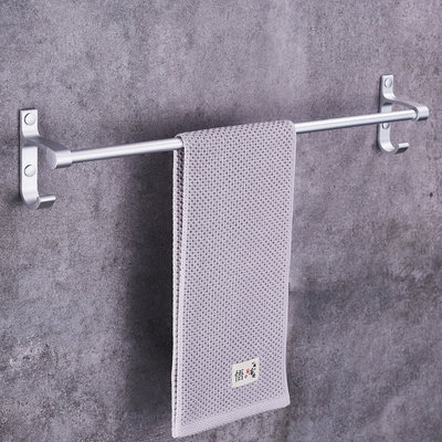 Towel rack free mouth bathroom space aluminum bath towel rack hanging hook bathroom towel rack towel pole single pole double pole