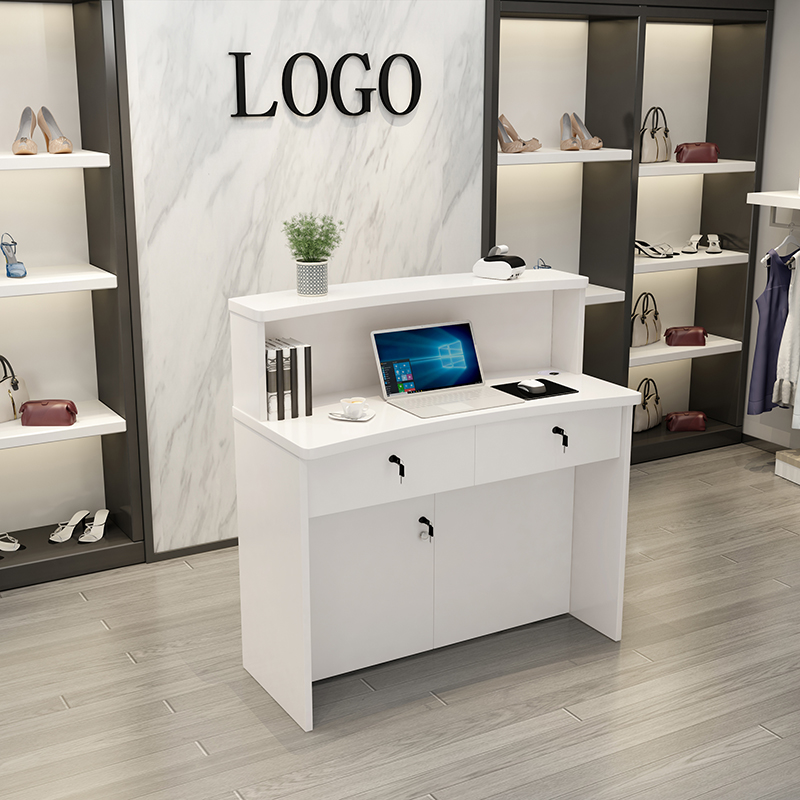 Li 髲 Store Cash Register Cabinet Simple Modern Beauty髮 Clothing Store Fashion Small Shop Small Bar 檯 Table