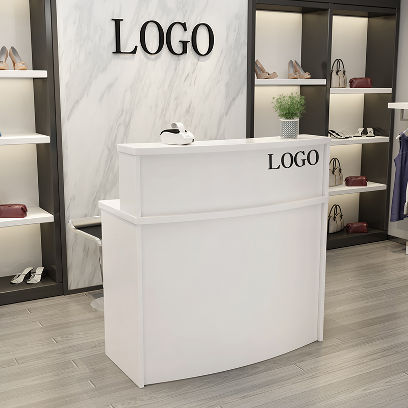 Table Stores: Female Clothing Shop Small Cashier Counter Simple Modern