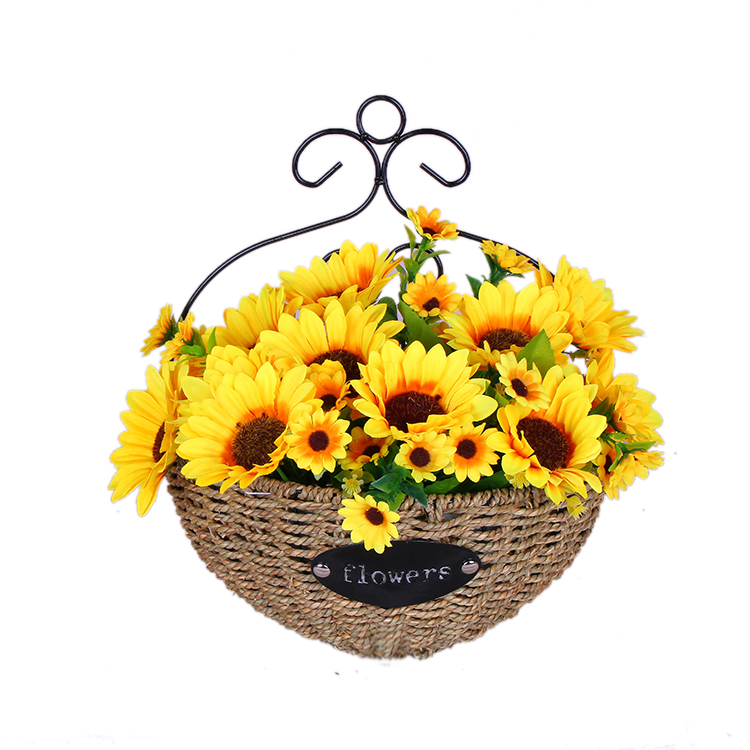 Usd 1087 wall hanging flower basket handmade straw pastoral willow lightbox moreview mightylinksfo