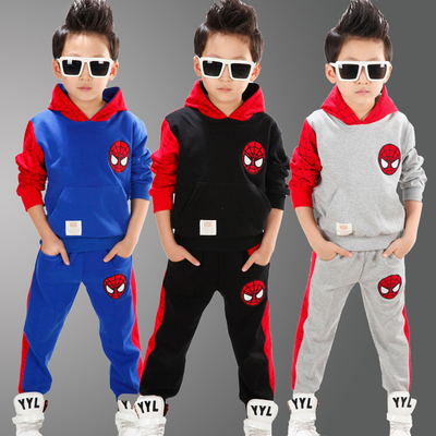 Spider-man children's clothing boys suit 2017 new autumn children's sports two-piece spring and autumn leisure baby clothes