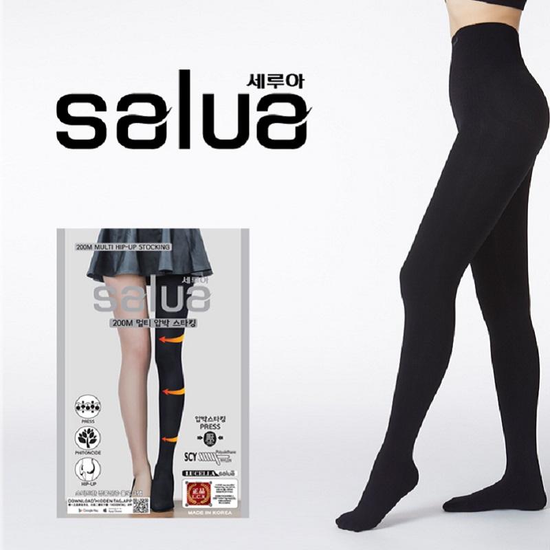 韩国salua瘦腿袜秋冬加厚款肉色打底连裤袜丝袜压力裤光腿神器女
