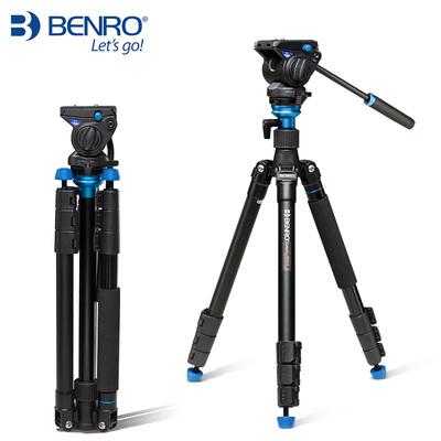 百諾三腳架A2883FS4-A1883FS2C攝影攝像獨腳架液壓阻尼云臺