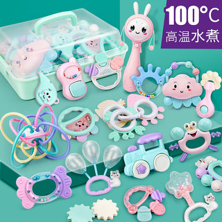 Baby 0-1 year old rattle can be boiled for newborn 3-12 months boy and girl puzzle can chew teether baby toy 6