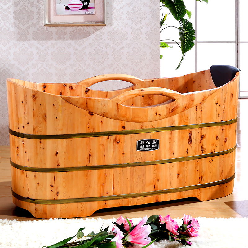 USD 415.11] Ashtray wooden Tub Bath Tub Bath Tub adult household ...