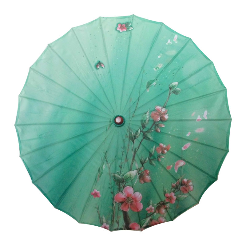 Chinese Ancient Stage Performance Show Umbrella Classical Dance Umbrella Flower Pattern Dance Props Silk Children Adult Umbrella Novelty & Special Use