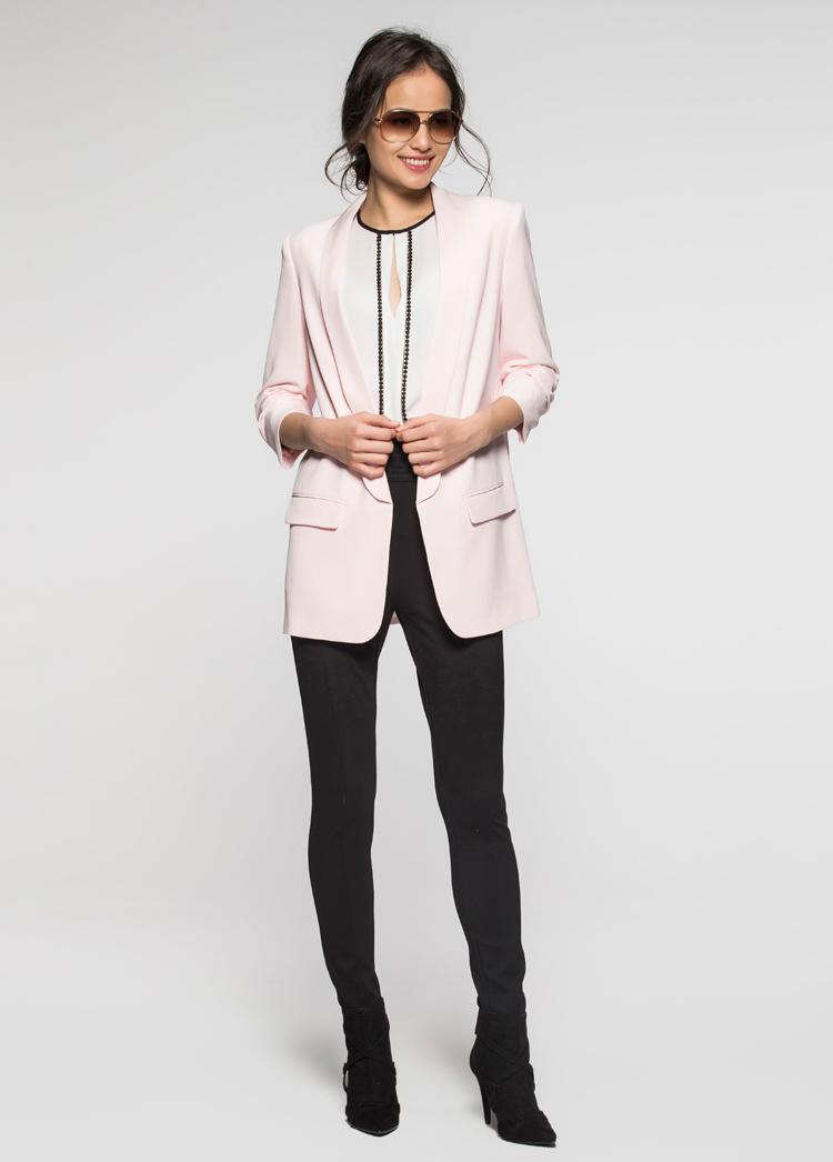 艾格etam 简约时尚 s黑色西装款外套160121011