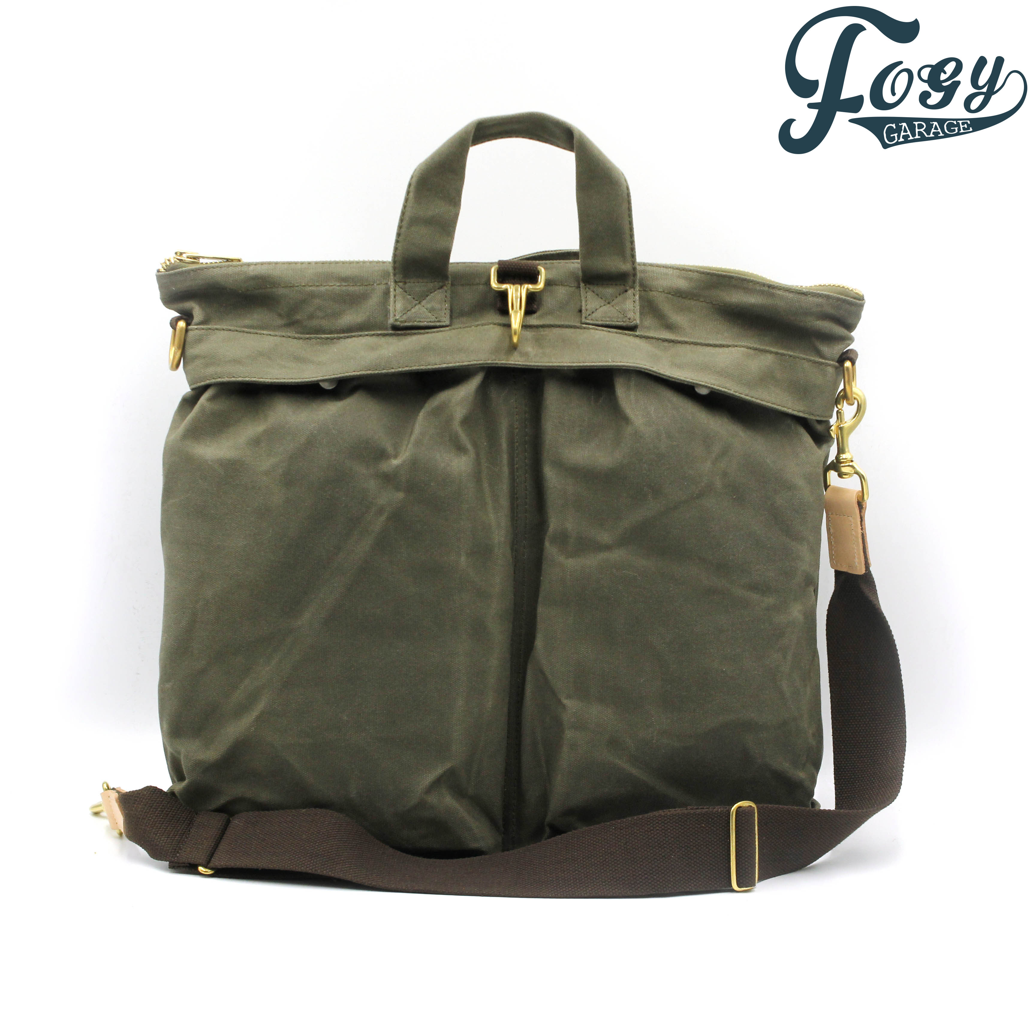 Fogy Retro Heavy Oil Wax Canvas Motorcycle Helmet Bag Storage Pilot Locomotive Knight Messenger