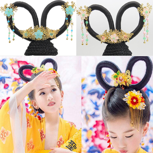Chinese hanfu wig Tang dynasty princess empress fairy drama cosplay wig for women Children's ancient headdress wig flying wig modeling Tang Dynasty ancient charm ancient wig bun