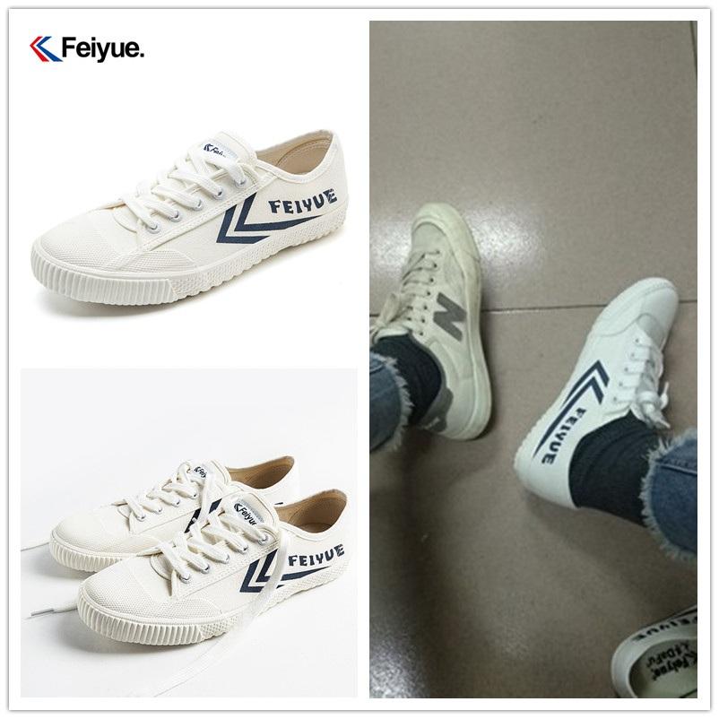 Giày thể thao màu trắng đậm màu xanh đậm cho nam và nữ mặt thoáng khí chống va chạm cao su đầu chống trượt nhỏ giày vải trắng 2114 - Plimsolls