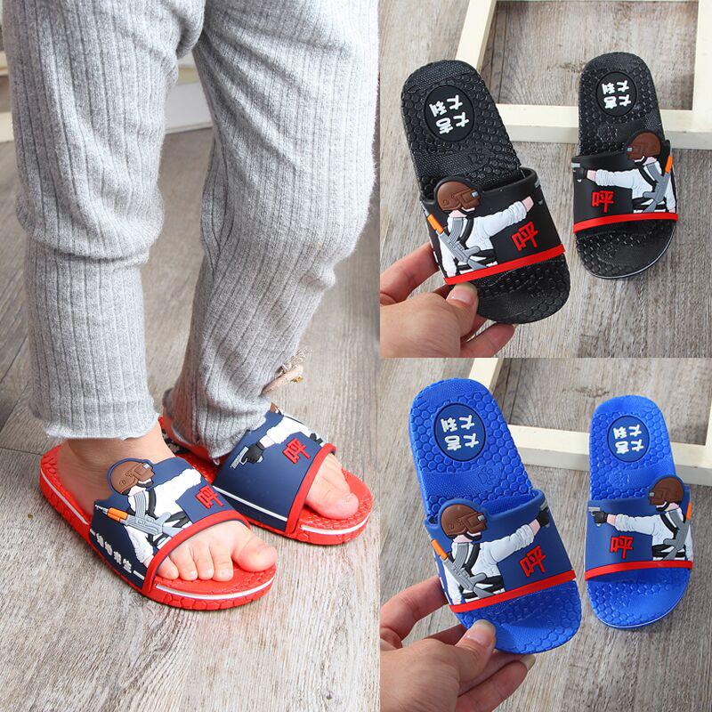 新款儿童拖鞋卡通吃鸡男童男孩可爱宝宝凉拖防滑小中大童室内拖鞋