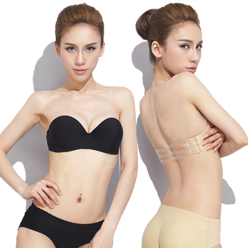 d5dcd440e7 USD 53.13  Strapless underwear gathered on the non-slip halter bra ...