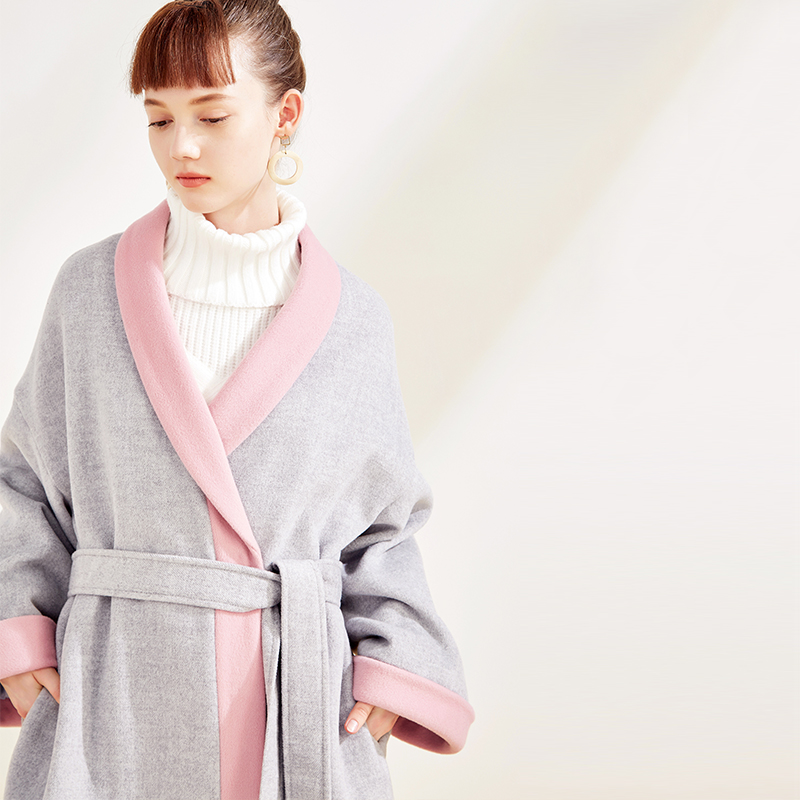 Cicishop của phụ nữ new hit màu áo len của phụ nữ áo ngủ phần đoạn dài áo len 9029