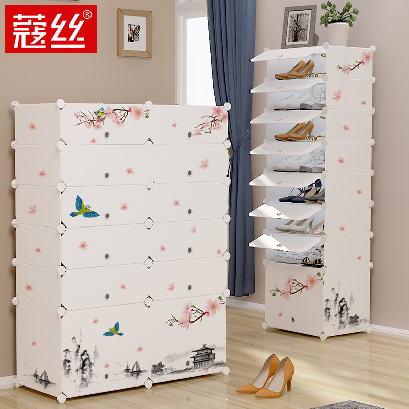 Shoe Cabinets Furniture Modern Multilayer Shoe Cabinet Wooden Shoe Box Storage Box Shoe Organizer Thickened Shoe Box Assembly Economical Dustproof Home