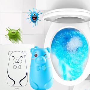 买二送二小熊蓝泡泡洁厕清洁剂