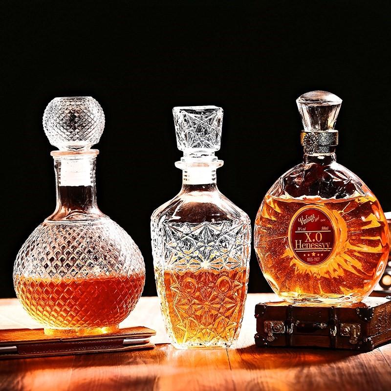 2只包邮瓶子红酒葡萄瓶空酒瓶装饰玻璃洋白酒酒瓶瓶空酒瓶高档