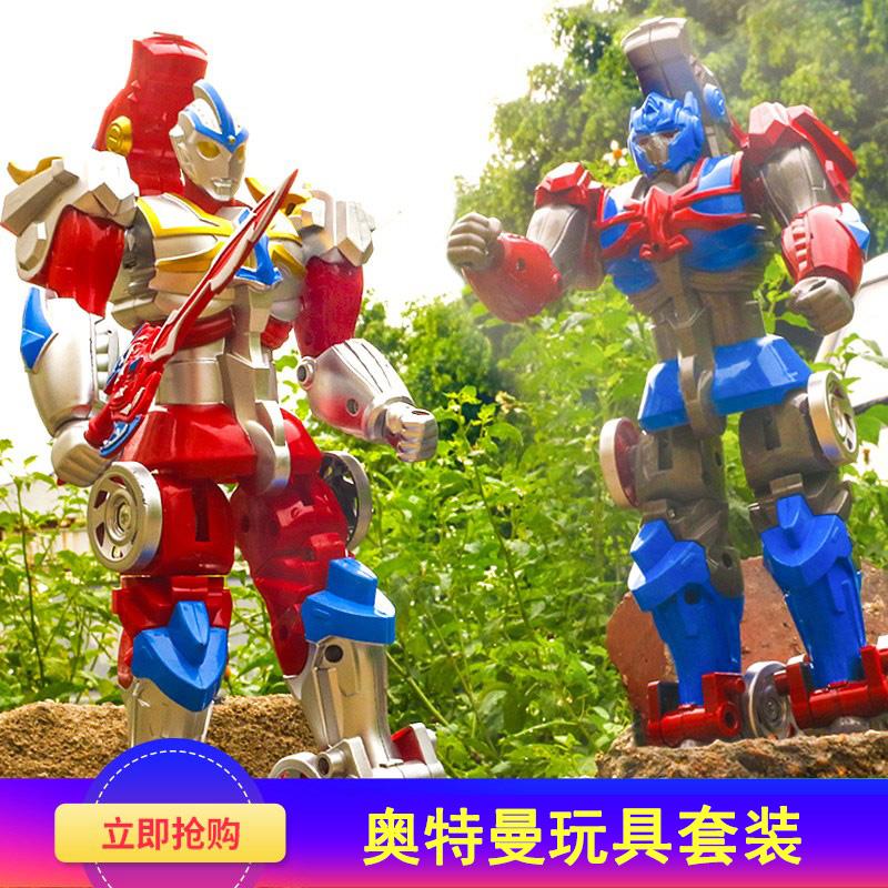 火焰关节盖亚多玩具可动奥特之父罗布奥特曼套装奥头曼战士变形