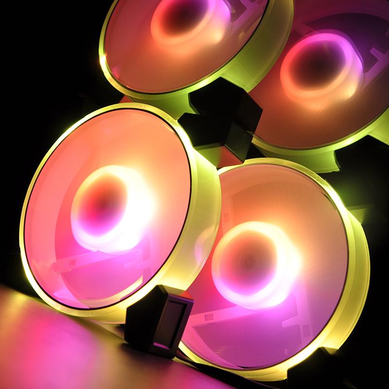 爱国者极光暮光C3幻彩RGB神光同步AURA电脑机箱12cm静音v散热风扇