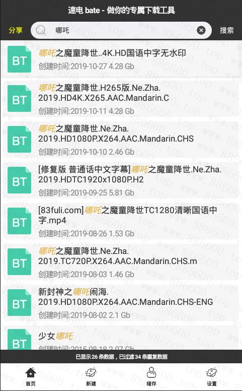 安卓速电v1.06 磁力种子搜索下载插图