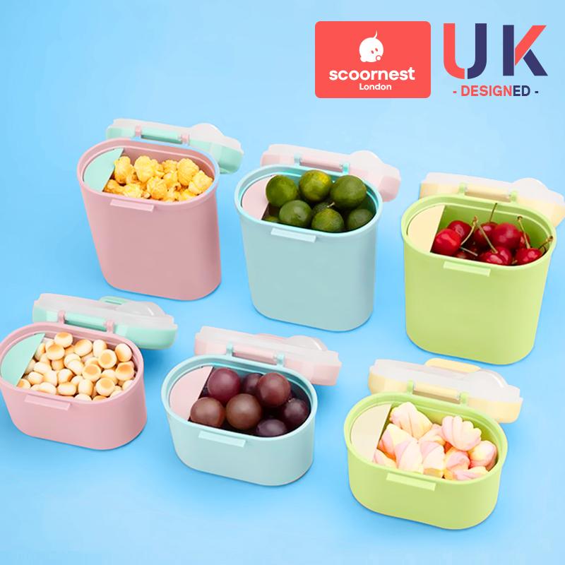 科巢婴儿奶粉盒便携式外出分装分格米粉盒子辅食盒储存密封防潮罐