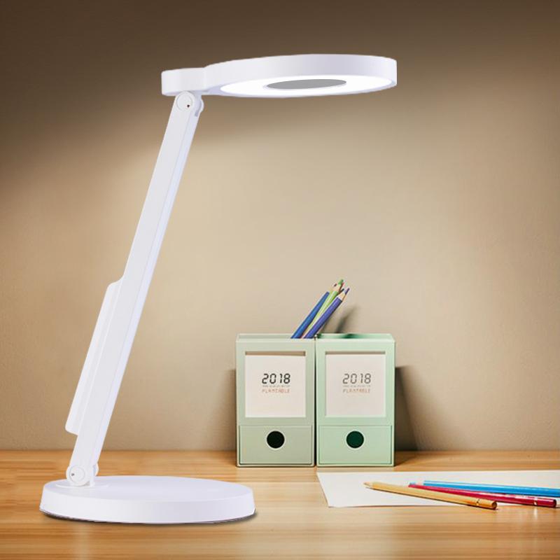 华雄台灯护眼LED灯学生学习写字灯宿舍书桌卧室台灯可调光床头灯