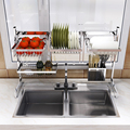 Drain sink dish rack kitchen utensils rack stainless steel storage clothes dish rack drain basket
