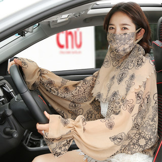 Shawl female summer sun thin sleeved large size car ride cape cloak UV veil piece fitted
